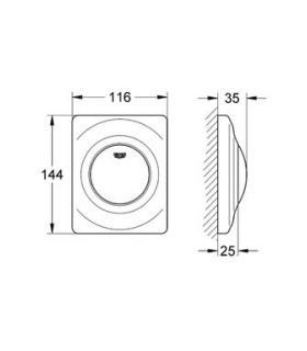 Kit aspirazione/scarico orizzontale, diametro 60/100 Junkers AZ362 art