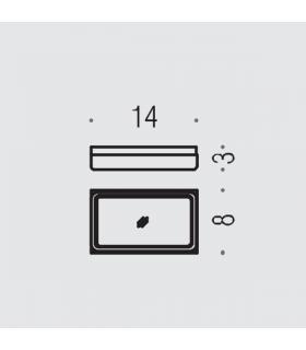 Koh-i-noor miroir grossissant X2 Discolo Led C35/1 chrome' diam.23cm