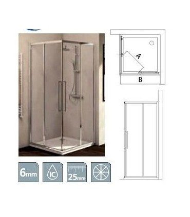 Fixed panel for shower box, Ideal Standard collection Kubo