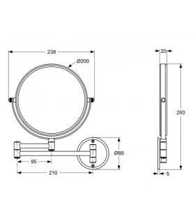 Magnifying mirror , Koh-i-noor, series  Toeletta, model  387, chrome  black , x2