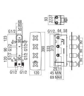Bathtub for the disabled with white door for lateral entrance Ponte Giulio