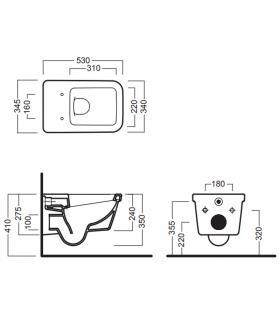 Artiplastic 0803ST staffa fast block 80 mm