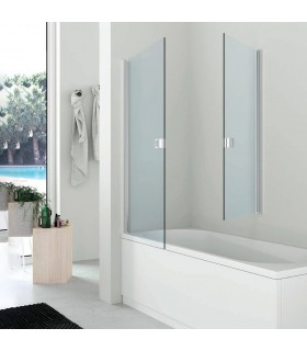 Pivot door over bathtub Hafro transparent H.120