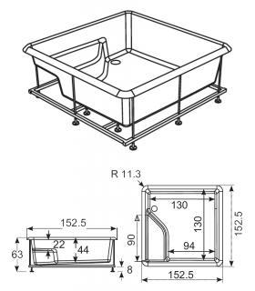 Ideal Standard external bath mixer Cerafine D BC693
