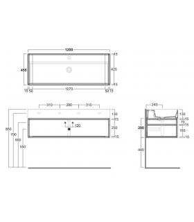 Ladder bookcase Orchidea Milano New Beolo 47.2586