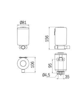 Piatto doccia resina pietra con griglia laterale Profil Design
