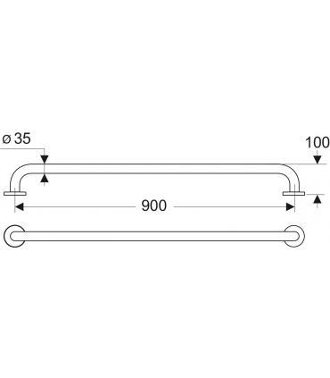 Modulo wc sospeso con cassetta Grohe serie Uniset art.38729000