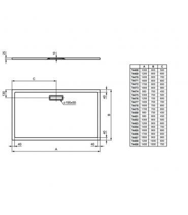 Reservoir a' dos pour wc avec levier frontal, Simas Lante