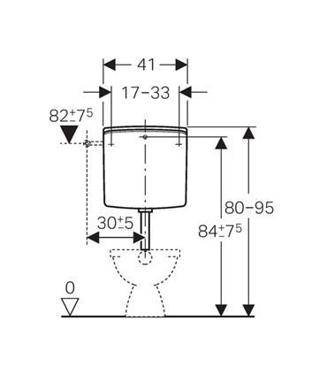 External toilet cistern Geberit Twico AP140