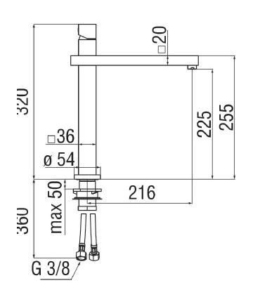 Porte pliante  pour cabine de douche, Ideal Standard collection Kubo
