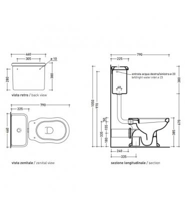 Flaminia Efi 6004 cistern backpack for toilet, white
