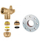 Sanitary pipes and connector fittings