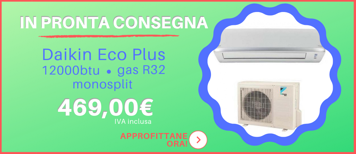 Condizionatore monosplit Daikin Eco Plus